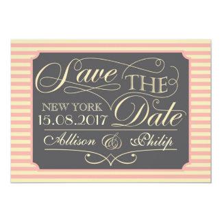 "Save the date design 5"" x 7"" invitation card"