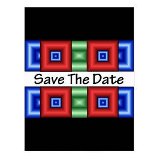 Save the Date Disco Postcard
