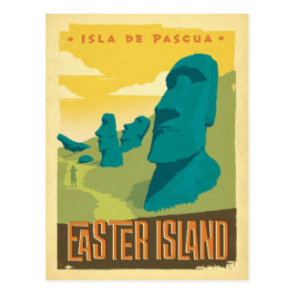 Save the Date | Easter Island, Chile Postcard