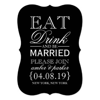 Save the Date | Eat Drink & Be Card