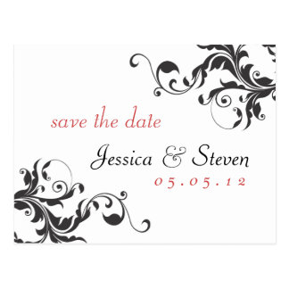 Save the Date Elegant 01 Postcard