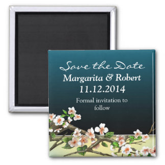 save the date elegant blossoms magnets
