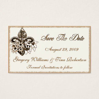 Save the Date enclosure card template