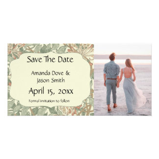 Save the Date Engagement Announcement Floral Card