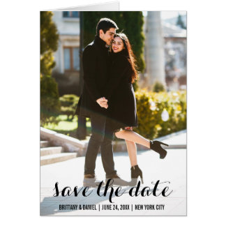 Save The Date Engagement Modern Note Card L W