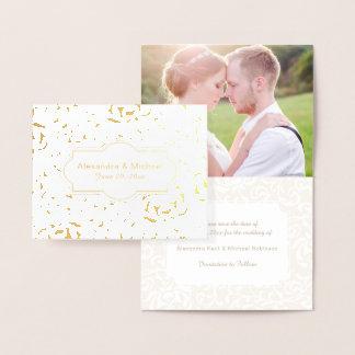 Save the Date Engagement Tudor Garden Renaissance Foil Card