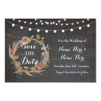 Save The Date Fall in Love Wedding Chalk Cards