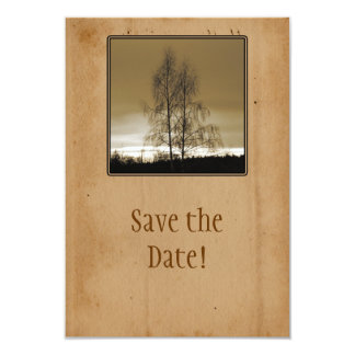 "Save the date family Reunion 3.5"" X 5"" Invitation Card"