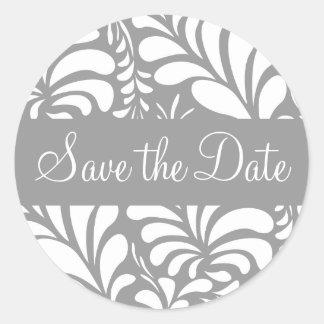 Save the Date Fern Flora Sticker Seal