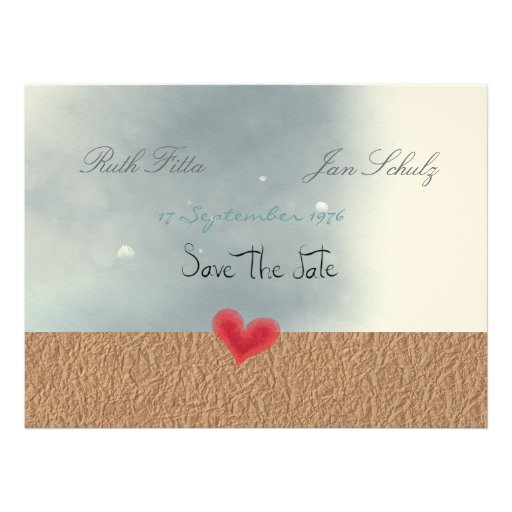Save the date fine-art paper embossed class love personalized invite