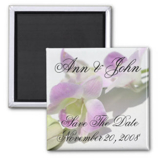 Save the Date First Names Orchid Magnet
