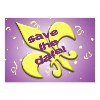 Save the Date Fleur de Lys Wedding Announcement