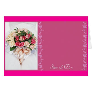 Save the date-Floral Bouquet Greeting Card