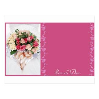Save the date-Floral Bouquet Postcard