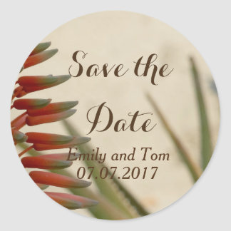 Save the date  Flower Romance Round Sticker