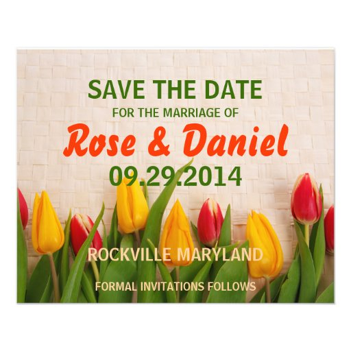 Save the date custom flyer