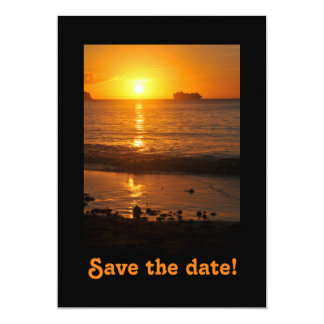 """Save the date for a boat party 5"""" x 7"""" invitation card"""