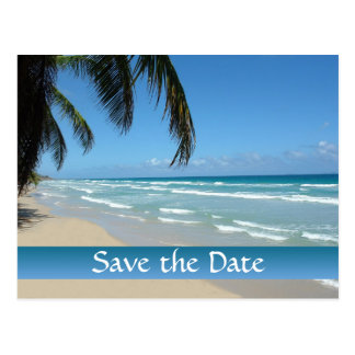 Save the Date for Beach Wedding Postcard