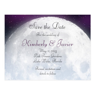 Save the Date for Space Themed Wedding Postcard