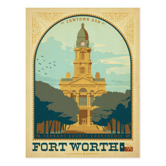 Save the Date - Fort Worth, TX Postcard