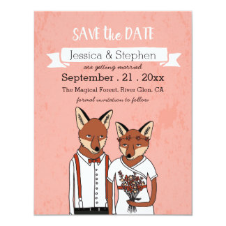 Save the Date - Foxes in Love Card