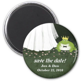 Save the Date Frog Prince Wedding Customizable Magnet