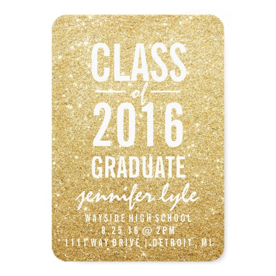 Save the Date | Gold Glitter Grd Card