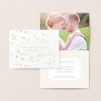 Save the Date Golden Willow Photo Template