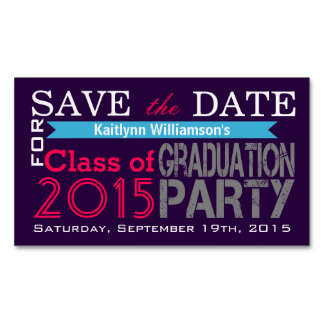 Save the Date Graduation Magnetic Card Reminders