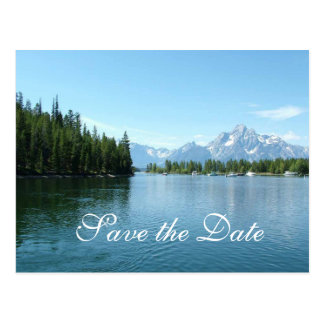 Save the Date, Grand Teton National Park Postcard