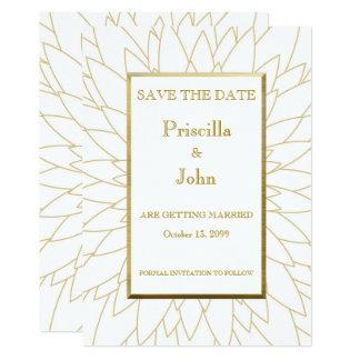 Save the date, great gatsby, dahlia geometric card