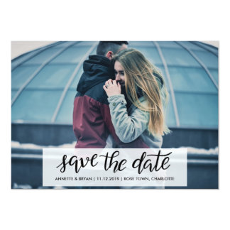 Save The Date Handwritten Couple Photo Card