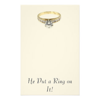 Save the Date/ He Put a Ring on It! Stationery Design