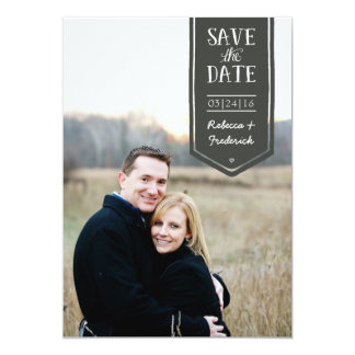 Save the Date in hand-drawn style, custom photo Card