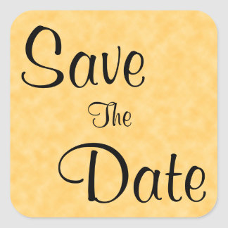 Save The Date in Yellow and Black Stickers