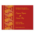 """Save The Date Indian Style Card 4.25"""" X 5.5"""" Invitation Card"""