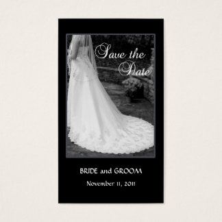 Save the Date insert card - Bride