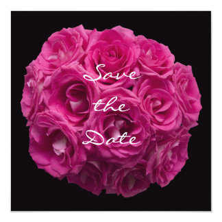 Save the Date Invitation  -- Gorgeous Pink Roses