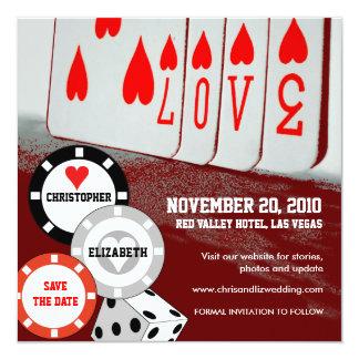 Save The Date Invitation Love Casino Card 3
