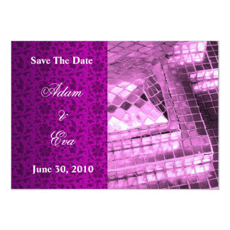 Save The Date Invitation Violet Gemstone Mosaic