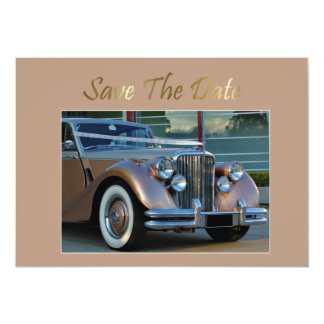 Save The Date Invitation with Wedding car