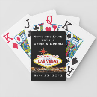 Save the Date Las Vegas Poker Cards