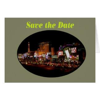 Save the Date Las Vegas Strip  Card