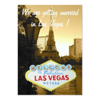 Save the Date Las Vegas Wedding Announcement