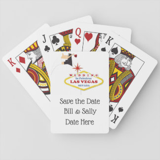 Save the Date Las Vegas Wedding Playing Cards