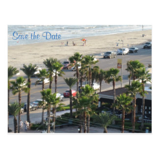 Save the Date - Let's Go to Galveston Postcard