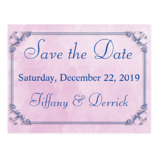 Save the Date Lilac Watercolor Postcard