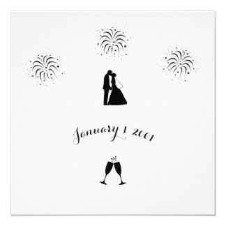 "Save the Date Linen 5.25"" x 5.25"", Standard White Card"