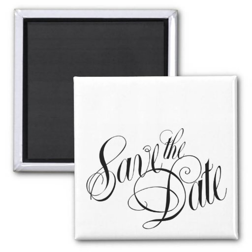 Save the Date Logo Square Magnet