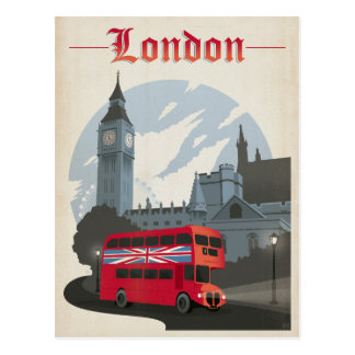 Save the Date | London - Red Bus Postcard